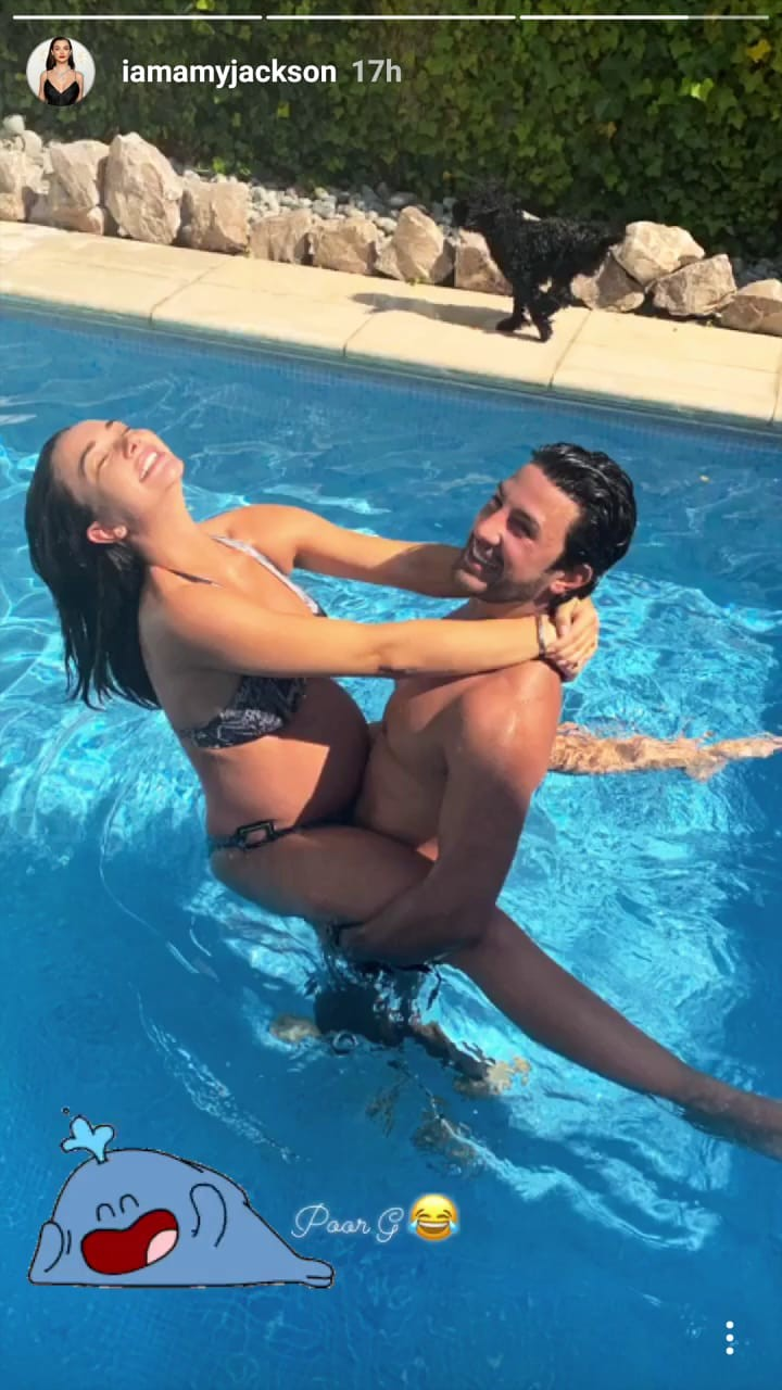 Mom-to-be Amy Jackson chills in the pool with fiance George Panayiotou, see pics 1