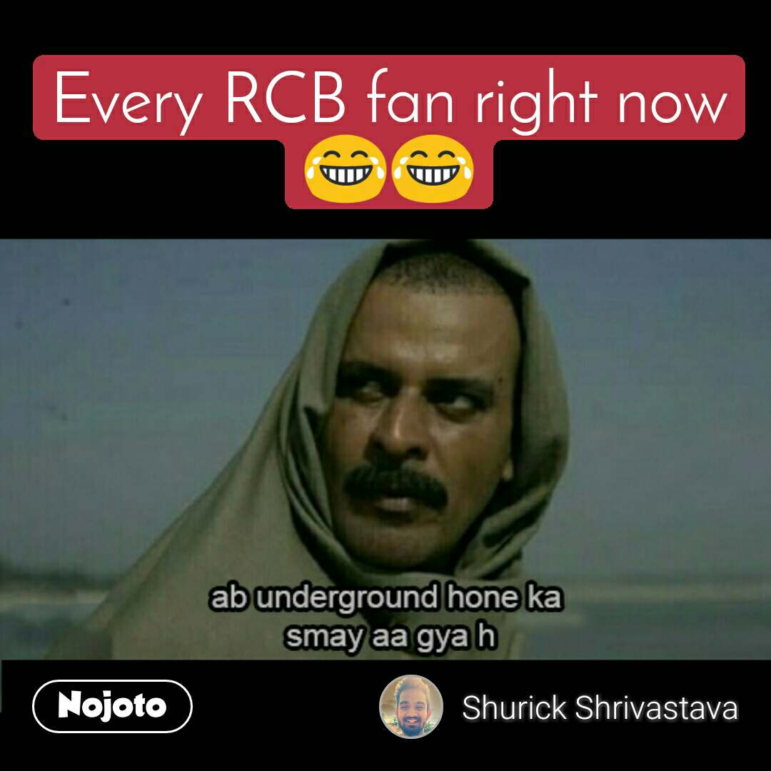 rcb fans right now funny