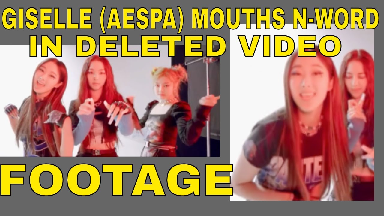 K-Pop Group Aespa Giselle Lip Syncs N-Word Watch Deleted Video Footage Clip Viral